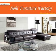 leisure design sofa for living room, attractive corner sofa
