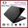 13 Inch Laptop Computer with Intel Atom N2600 Dual Core CPU, 2GB RAM, 500GB HDD, Windows 7, WIFI, Webcam, HDMI