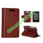 Crazy Horse Texture Leather Case Cover for NOKIA Asha 501 With Card Slots and Magnetic
