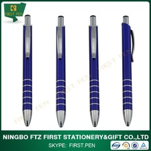 First A015 Aluminium Metal Body Ballpoint Pens With Rings Grip