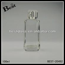 100ml wedding gift perfume bottle with aluminum spray, mould perfume bottles, special shape glass bottle for perfume