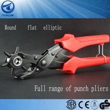 three shape hole leather punch (round flat elliptic)