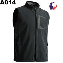 Waterproof Breathable Name Brand Softshell Vest without hood for men A14