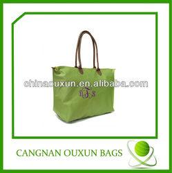 fashion foldable oxford promotion cheap logo shopping bags