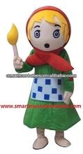 The Little Match Seller girl mascot costume