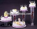 Venta al por mayor de la boda/de cerámica/vidrio/cenicienta transporte/cristal/de acrílico pastel de stands con luces