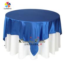 Hot Sale Popular Fancy Wedding Satin table cloth, Cheap Satin Table Overlay