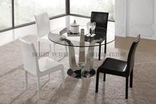 Rodada mesa e cadeira de jantar definir populares conjuntos de sala de jantar