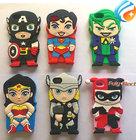 Free Shipping Cartoon Superhero Super Man Batman Spider-Man Iron Man Silicone Rubber Case Cover for iphone 4 4s
