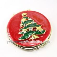 Christmas tree pocket mirror Color compact mirror