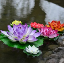 2014 Hot Artificial floating lotus flower/plastic lotus flower/artificial plant for decorative indoor