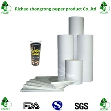 single side poly coated paper for disposable cups