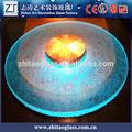 Mais recente rodada de vidro/cozinha granito mesas/vidro round top tabelas
