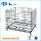 Large folding stackable good sale material handling wire basket