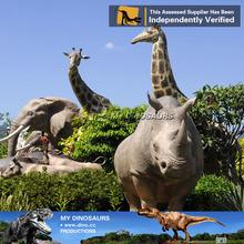 MY Dino-amusement park fiberglass rhinoceros statue