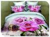 Reactive Printed 3D Bedding Set Flower 3d effect bedding set 100% cotton