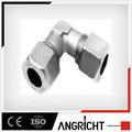 J108- fornitore porcellana pneumatici in acciaio giunto idraulico raccordo a gomito
