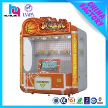 Coin operated video personalized gift machine crazy basketball
