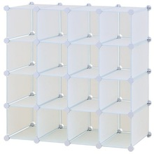 Interlocking 16 Cubes Storage Shelves