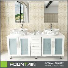 Fangteng Style Selections Modern Solid Wood Cabinet Bathroom Vanities Ceramic Wholesaler