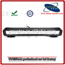 120W Single Row off Road LED Light Bar, 20'' 4WD waterproof LED Driving Lights