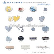 Zinc alloy custom embossing rolling pins handbag metal logo car logo bag brands logo label pin