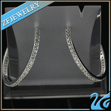 victorian style pure 925 silver cz earrings micro paved