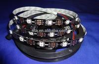5m DC5V WS2812B led pixel srip,non-waterproof,30pcs WS2812B/M with 30pixels;BLACK PCB