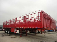 Hot selling China 3 axles 12 wheels cargo fence semi trailer