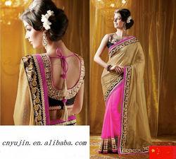 Indian Bollywood Sari Women Bridal Party Wear Traditional Wedding Saree