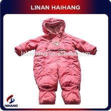 polyester padding micro fleece lining baby winter jumpsuit