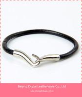 Leather Bracelets with buckle Leather Wrap Bracelet Flat Leather Cord Bracelet