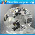 Forma oval pedras preciosas artificiais, claro e branco cz stone