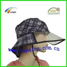 waterproof fashion women's plastic rain hats & lady hat