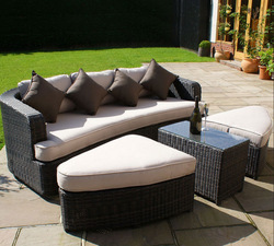High quality outdoor furniture round bed on sale