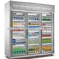안티- 안개 슬라이딩 투명 강화 유리 도어 냉장고
