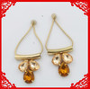 2014 new style alloy earring jewelry with colorful glass beads