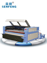 100W CO2 auto feed 2 heads laser Fabric cutting machine price CE FDA