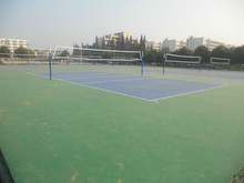 outdoor volleyball court flooring