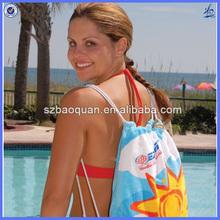 2014 hot folding beach towel bag made in china