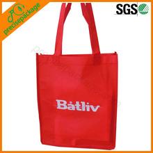 PP Non Woven Red Reusable Shopping Tote Bag (PRA-16035)