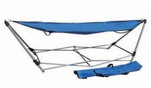 Outdoor Folding&Portable Hammock WIth Steel Stand