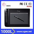 computador tablet de desenho ugee 10 polegadas com atalhos 2048 níveis digital pen tablet