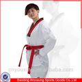 Artes marciales taekwondo ropa poom v- cuello uniforme de taekwondo en alibaba