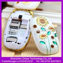 beautiful ladies mobile phone 1.44 inch GSM quad band N668 mini cute flip phone