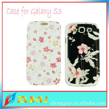 Fashion New Phone Cover flower flip leather case for galaxy s3