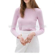 2014 Basic back zipper women knitwear cashmere