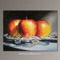 bonita imagen decoración de la pared pintura de frutas de manzana todavía td realista pintura al óleo vida