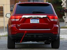 2011 - 2014 Jeep Grand Cherokee Rear Door Decorative Strip