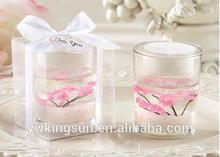 2014 New Romantic Sakura Wedding Candle wedding favor
